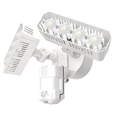 SANSI LED Security Motion Sensor Outdoor Lights, 36W (250W Incandescent Equivalent) 3600lm, 5000K Daylight, Dusk to Dawn IP65 Waterproof Flood Light, ETL Listed, White