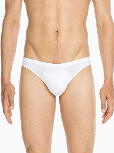 HOM - Hombre - Comfort Micro Briefs 'Classic' - Cómodos Calzoncillos de Hombre - White - XL (Ropa)