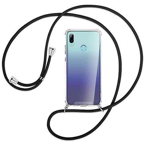 mtb more energy® Handykette kompatibel mit Huawei P Smart 2019, Honor 10 Lite (6.21'') - schwarz - Smartphone Hülle zum Umhängen - Anti Shock Strong TPU Hülle