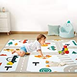 Foldable Baby Play Mat, Soft Play Rugs for Boys Girls Infant Baby Toddler Nursery, Thick Crawling Rug for Living Room, Nursery and Dormitor Foam Mat Tatami Mat Exercise Mat 71 by 78 Inch