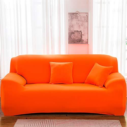 kengbi Funda de sofá duradera y fácil de limpiar, funda elástica de color sólido, funda de sofá de elastano, moderna todo incluido, para sala de estar, fundas de sofá elásticas de 1/2/3/4 plazas