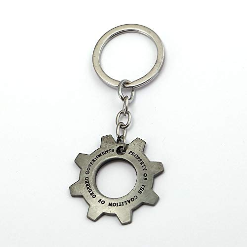 Key Chains - New Online Game Gears of War Keychain Gearwheel Ship Metal Sliver Key Chain Ring Holder Llaveros Chaveiro Men Women Gift Jewelry - by YPT - 1 PCs
