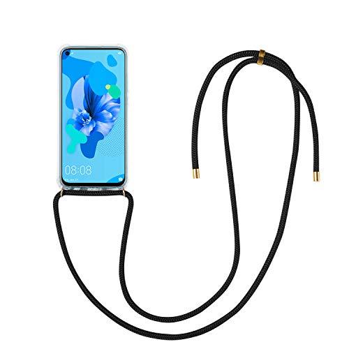 Supremery Huawei P20 Lite (2019) hoesje - met snoer om rond te hangen - siliconen beschermhoes voor mobiele telefoon voor Huawei P20 Lite 2019
