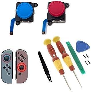 ニンテンドースイッチ ジョイコン 交換用 アナログジョイスティック L/R共通 2個セット 修理に ブルー ピンク Nintendo SWITCH用 Y字ドライバー 工具キットYネジ付き