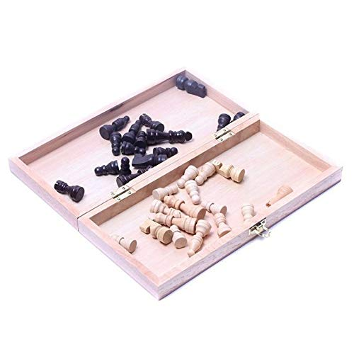 CHUJIAN International Chess 34 * 34cm Lustige Folding folable Holz International Chess Set Brettspiel Funny Game Sport-Unterhaltung