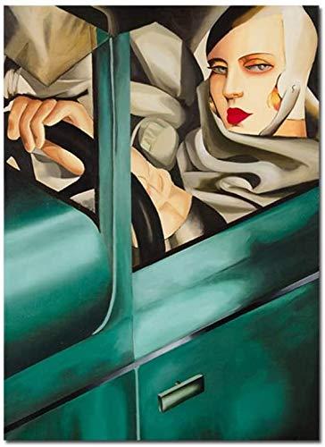 """Surfilter Print auf Leinwand Kunst Malerei Künstlerin Tamara de Lempicka Klassische Kunstwerke Reproduktion Poster Wandbilder für die Inneneinrichtung 27.5"""" x 39,4""""(70x100cm) No Frame"""