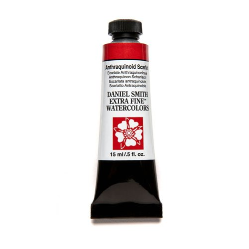 DANIEL SMITH Extra Fine Watercolor 15ml Paint Tube, Anthraquinoid Scarlet