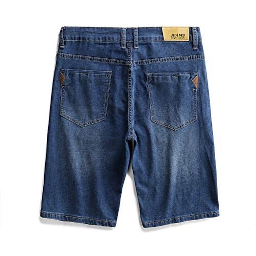 WQIANGHZI Herren Jeans Shorts Kurze Denim Hose Mit Destroyed-Optik Aus Stretch-Material Slim Fit S-9XL