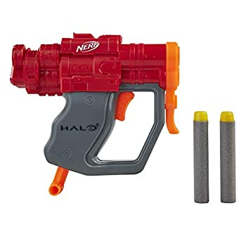 NERF MicroShots Halo SPNKr -- Mini Dart-Firing Blaster and 2 Darts -- Collectible Blaster for Halo Video Game Fans Battlers