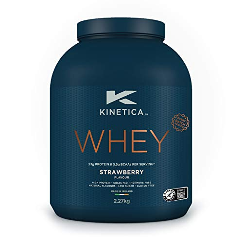 Kinetica Whey Protein Powder, 76 Servings, Strawberry, 2.27kg