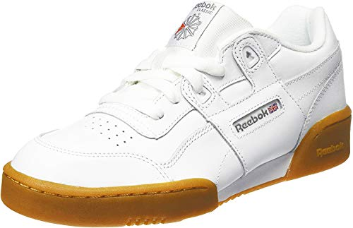 Reebok Jungen Workout Plus Fitnessschuhe, Weiß (White/Carbon/Classic Red/Reebok Royal/Gu 000), 37 EU