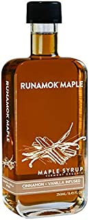 Runamok Maple Cinnamon Vanilla Infused Maple Syrup | Organic Vermont Maple Syrup | 8.45 Ounce | 250 Milliliter