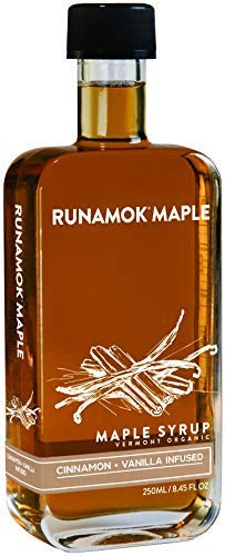 Runamok Maple CinnamonVanilla Infused Maple Syrup  Authentic amp Real Vermont Maple Syrup | Gluten Free amp Natural Sweetener | Breakfast Coffee Pancakes Maple Syrup | 845 Fl Oz 250mL