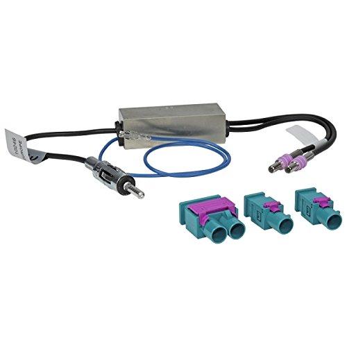 maxxcount Antennen-Adapter kompatibel mit Audi/Seat/Skoda/VW (mit Phantomeinspeisung & Diversity/DIN > 2X Fakra Z)