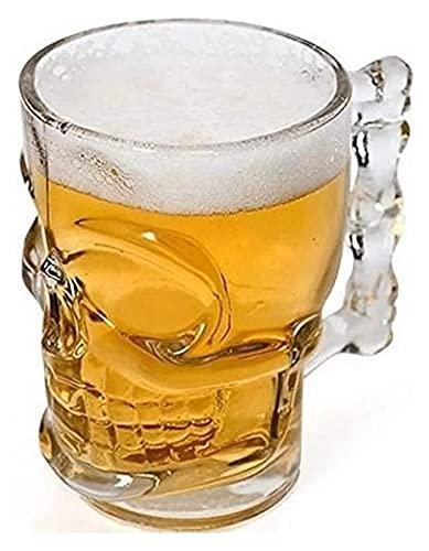 Cráneo de cerveza de vidrio de 4 unids con mango - espesando taza de cerveza, súper jarras de la cerveza, copa de jugo engrosada, taza de cerveza de cristal de la personalidad creativa de Bar KTV - 50