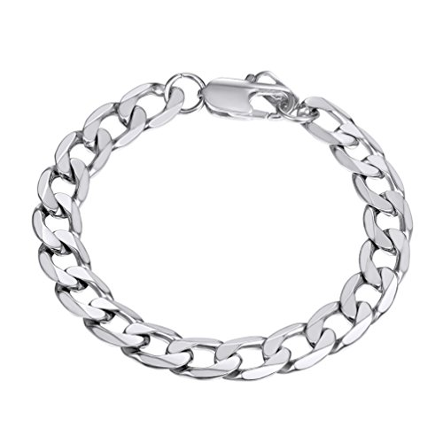 PROSTEEL Mens Bracelets Bangles 8mm 316L Stainless Steel Wrist Band Hand Chain Jewelry Gift