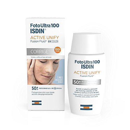 FotoUltra 100 ISDIN Active Unify SPF 50+, aclara y unifica