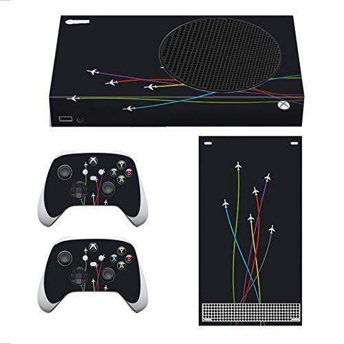 Piel De Avión De Color Xbox Series S, Cubierta De Calcomanías para Consola Y Controlador De Microsoft Xbox Series S Adhesivo De PVC Resistente A Los Arañazos, Sin Burbujas,034