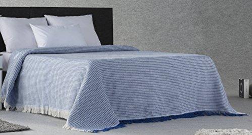 Plaidtor Nigeria Plaid Multiusos, Algodón, Azul, 180x270 cm