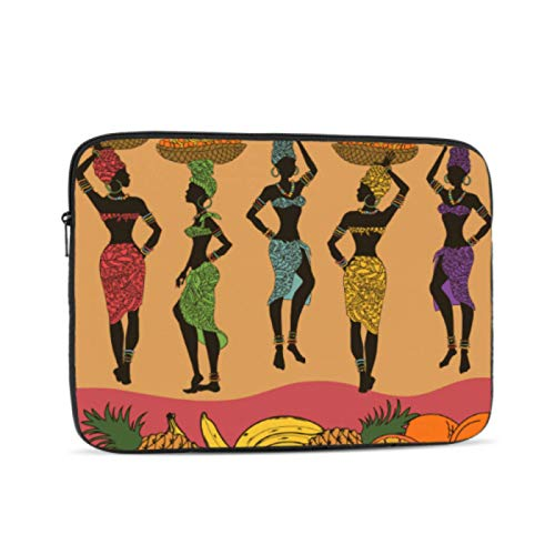Cover for MacBook Air Colorful African Seamless of Fruits and Be MacBook Pro Laptop Multi-Color & Size Choices10/12/13/15/17 Inch Computer Tablet Briefcase Carrying Bag