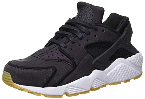 NIKE Wmns Air Huarache Run Prm, Scarpe Running Donna, Oil Grey/Black/White 018, 40.5 EU
