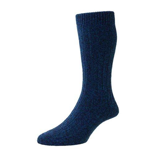 Pantherella Herren-Socken aus recyceltem Garn von Rye - Blau - Medium