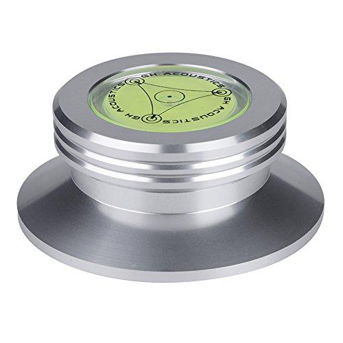 ASHATA Plattenspieler Disc Record Gewicht, Hohe Präzision Wasserwaage Schallplatten Plattenstabilizer,Aluminium Record Weight Clamp LP Vinyl Plattenspieler Disc Stabilizer