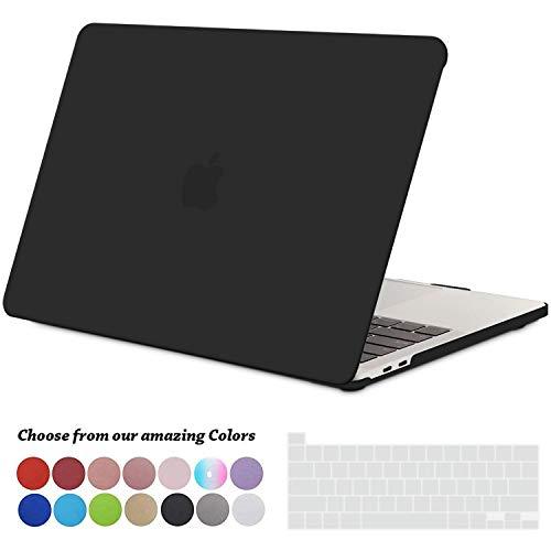 TECOOL MacBook Pro 13 Hülle Hülle 2020, Plastik Hartschale Tasche Hülle + EU Tastaturabdeckung für Apple 2020 MacBook Pro 13 Zoll mit Touch Bar (Modell: A2289 / A2251) - Schwarz