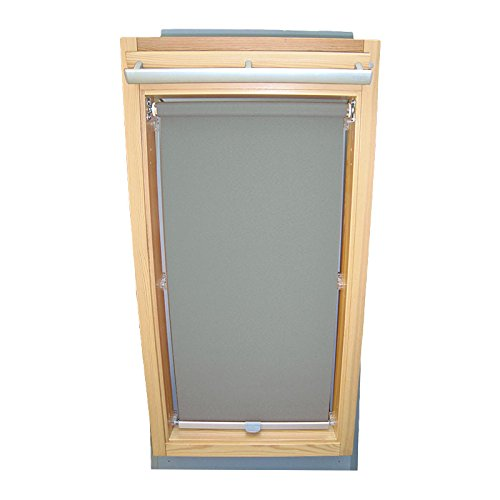 Easy-Shadow Dachfenster Sichtschutzrollo Basis Rollo für Typ Roto WDF Designo R6 / R8 / R84 / R85 / R86 / R88 / R89 / R6_K/H R8_K/H R8_K/H SR Größe 6/14 - in der Farbe grau