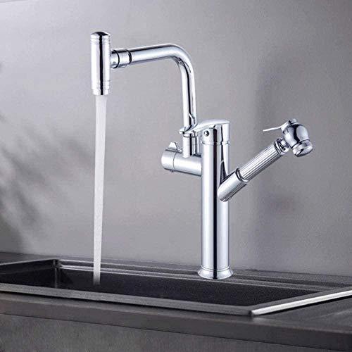 Wasserhahn Wasserhahn Küchen Wasserhahn 360 Rotationsauslauf Ausziehsprühgerät Hochdruck-Bidet Handmixer Wasserhähne