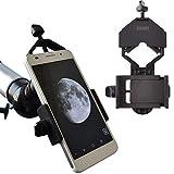 Gosky ユニバーサルな携帯電話アダプターマウント - 双眼鏡 単眼鏡 スポッティングスコープ 望遠鏡 顕微鏡に対応 - ほとんどのスマートフォンにフィット