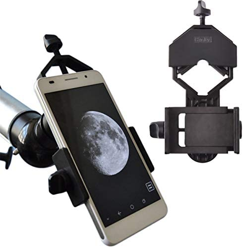 Gosky Universal Cell Phone Adapter Mount – Compatible Binocular Monocular Spotting Scope Telescope Microscope-Fits almost all Smartphone on the Market -Record The Nature The World
