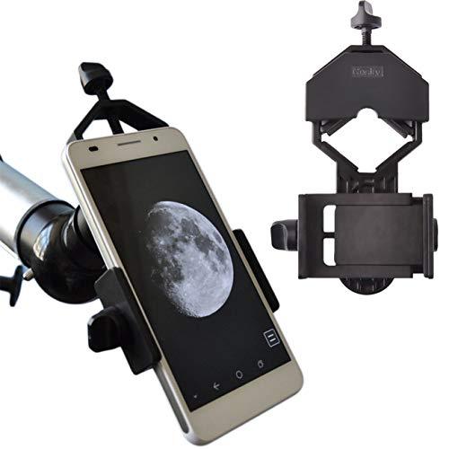 Gosky - Soporte Universal para teléfono móvil, Compatible con prismáticos, telescopios y microscopios, Compatible con Casi Todos los Smartphones
