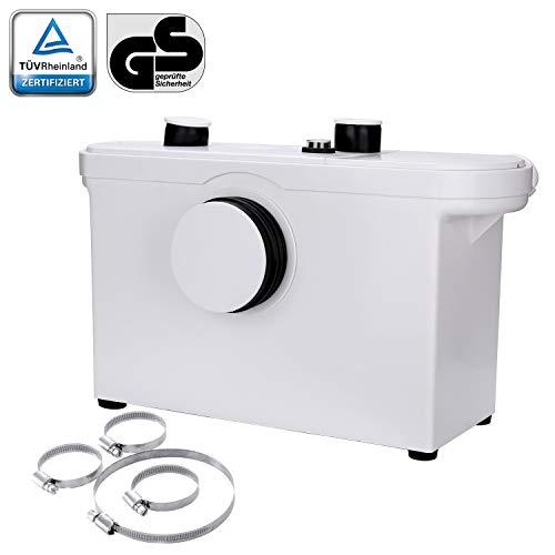 3/1 Hebeanlage Fäkalienpumpe 600W Kompakte Abwasserentsorgung Hänge WC Dusche Waschtisch Haushaltspumpe