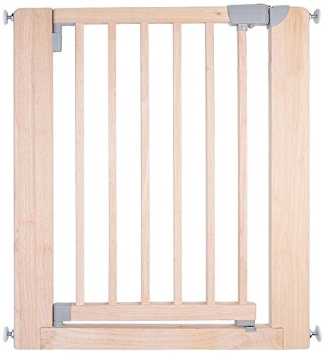 Safetots Chunky Wooden pressure Fit stair Gate 74 – 97 cm, (74 – 81 cm) naturale