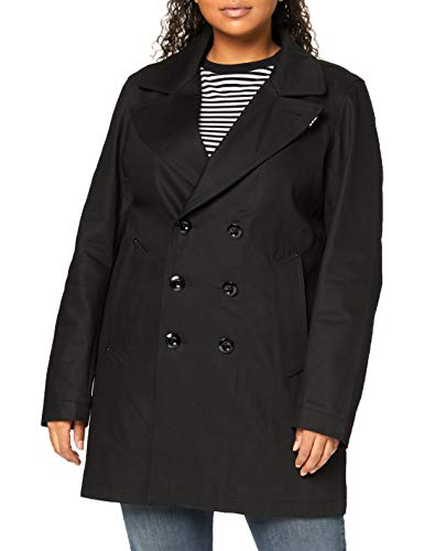 G-STAR RAW Womens Lined Denim Peacoat PEA Coat, Pitch Black C526-A810, L