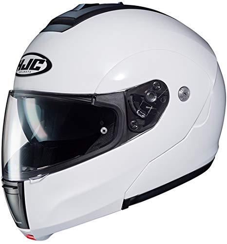 Motorradhelm HJC C90 Weiss Perle/PEARL WHITE, Weiss, L