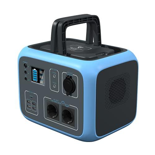 PowerOak Bluetti AC50S 500Wh Generador Solar Portátil con Inversor de 300W y Salidas AC/DC/USB, Generador Electrico Solar Power Station con Batería de Litio para Camping y Autocaravan