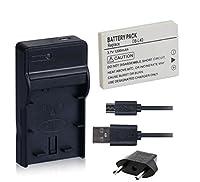 NinoLite 3点セット DB-L40 互換 バッテリー +USB型 充電器 +海外用交換プラグ dc77dbl40_t.k.gai