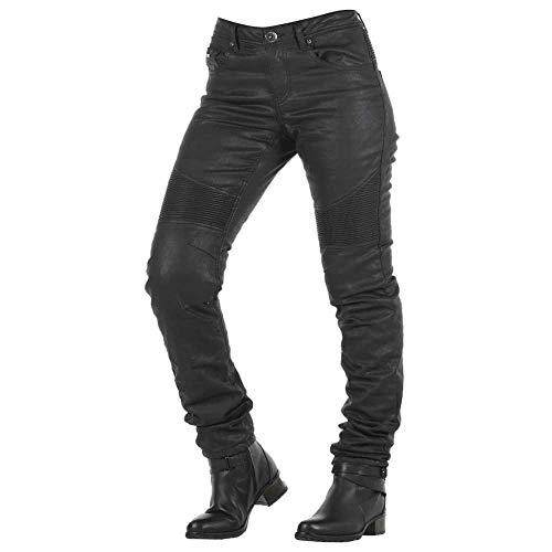OVERLAP Imola Night Damen Jeans Straßenzulassung Schwarz, Größe 30