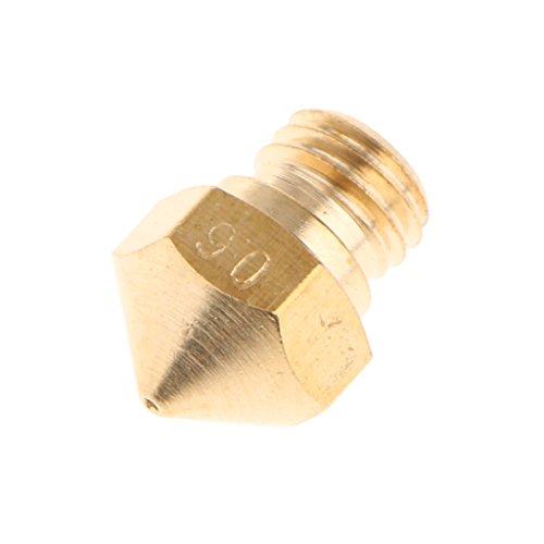 Amagogo 3D Drucker 0,2 0,8 Mm Extruder Kupferdüsenmetall für MK10 1,75 Mm Zubehör - Gold 0.6mm