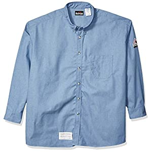 Men's 7oz Long Sleeve Denim   Dress Shirt