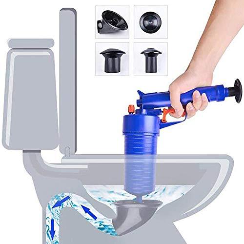 CZ-XING - Pompa di scarico a pressione per tubi, strumenti per dragaggio, per la pulizia di scarico ad alta pressione, per bagno, WC, per la casa, lavandino, vasca da bagno, suite con 4 ventose