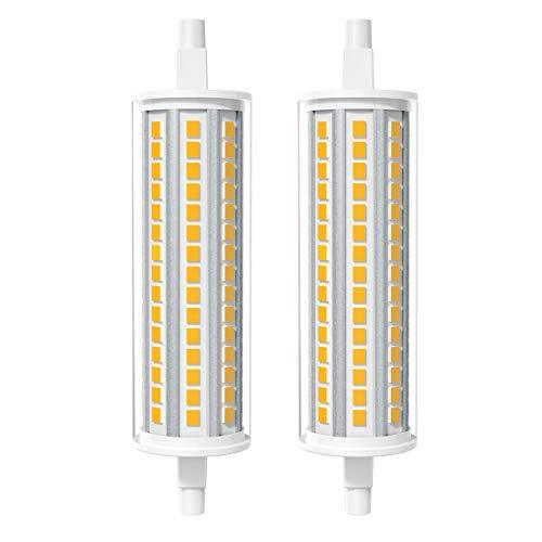 AGOTD R7s LED Lampe 118mm 12W J118 3000K Warmweiß Licht, Ersetzt 125 Watt Halogenlampe, Nicht dimmbar, 2er Pack