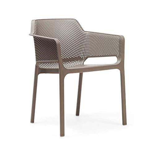 Vollkunststoff Designer Gartenstühle stapelbar - Stuhl Rigor/Taupe