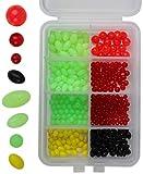 Storfisk fishing & more Gummiperlen Plastikperlen in Sortimentsbox zum Angeln, teilweise selbstleuchtend, Farbe :Mehrfarbig