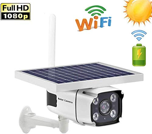LILAODA Solarbetriebene Überwachungskamera - 4G / WiFi SIM-Karte P Kamera 1080P HD Bullet Überwachungskamera IR Nachtsicht Solarbetriebene CCTV-Überwachungskamera (WiFi)-W-LAN Perfect