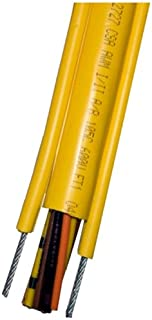 KH Industries CPCS-16/8-25FT Pendant Cable with External Strain Relief, PVC Jacket, 8 Conductor, 16 AWG, 25' Length, Yellow