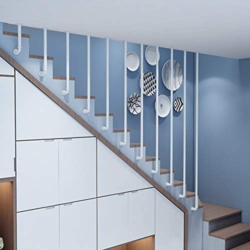 Schwarz Handlauf Treppengeländer Zaun, Moderne Eisengeländer Geländer, Treppen Zaun Nach Hause Industrie, Villa Indoor Loft Bar Geländer 100cm (Sondergröße)