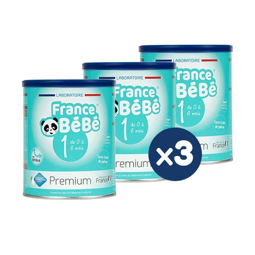 FRANCE BéBé PREMIUM - Lait bébé 1er âge en poudre - Boîte de lait infantile en poudre pour Nourrisson de 400 gr - Lait fabriqué en France avec du lait français (3 boîtes)